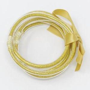 Jewelry - Metallic Tube Bracelet, Gold